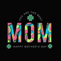 Felice festa della mamma saluto con taglio carta effetto