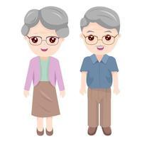 Coppia di nonna e nonno vettore