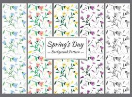 Collezione modello primavera vettore