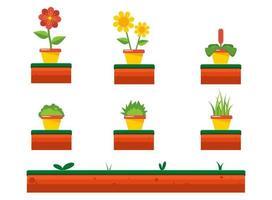 Set di fiore primavera vettore