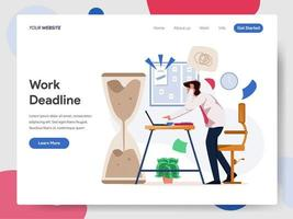 Concetto dell'illustrazione di Working on Deadline dell'uomo d'affari vettore