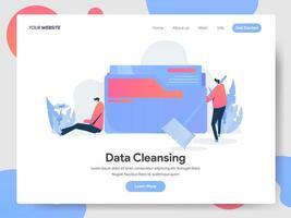 Concetto dell'illustrazione di pulizia di dati vettore