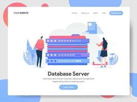 Concetto dell'illustrazione del server di database vettore