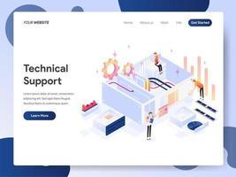Concetto isometrico dell'illustrazione del supporto tecnico