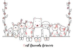 Best Friends Forever Baby Animali Card
