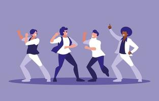Gruppo di uomini che ballano