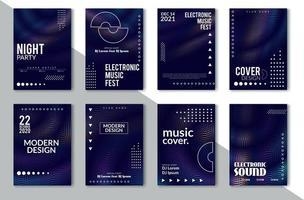 Set di copertina minimale astratta