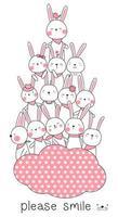 simpatico piramide di coniglio bambino