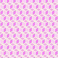 Trendy sfondo rosa senza soluzione di continuità di cubi vettore