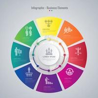 Cronologia di affari infografica
