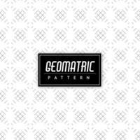 Sfondo bianco e nero motivo geometrico vettore