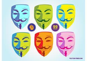 Maschera di Guy Fawkes vettore