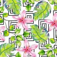 Acquerello sfondo floreale di Memphis