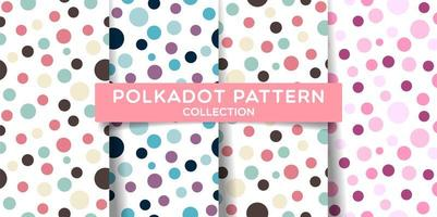 Seamless pattern colorati a pois vettore