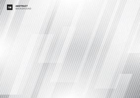 Geometrico grigio di concetto moderno astratto di tecnologia vettore