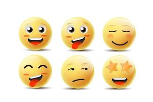 Volti di emoji vettore