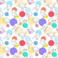 Dot Bird Seamless Pattern Background moderna sveglia