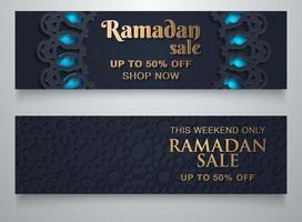 Sfondo di vendita Ramadan con spazio di copia