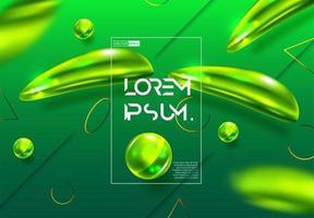 Sfuocature verdi sfumate astratte colorate vettore