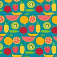 Pattern di sfondo frutti disegnati a mano vettore