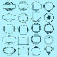 Set di insegne, distintivi, etichette