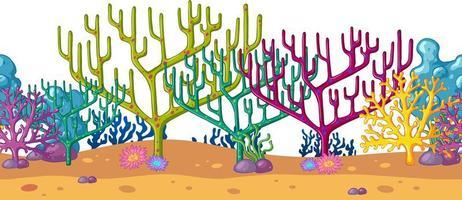 Sfondo di barriera corallina subacquea vettore
