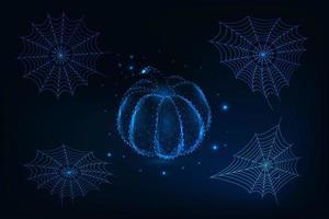 Set di elementi futuristici di Halloween vettore