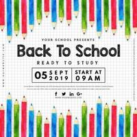 Poster di ritorno a scuola vettore