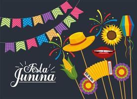 decorazione banner festa per festa junina vettore
