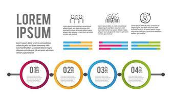 Piano informativo aziendale infografica in 4 fasi