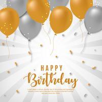Sfondo di buon compleanno vettoriale