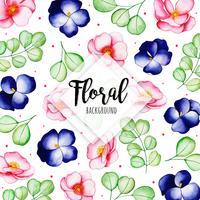 Sfondo di motivi floreali ad acquerello vettore