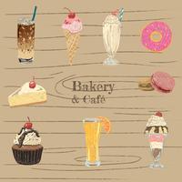 confezione di dolci e dessert vettore