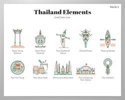 Pack LineColor elementi Thailandia