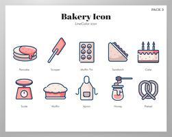 Set di icone di panetteria