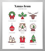 Pack di icone di Natale vettore