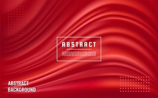 Struttura rossa astratta dinamica, fondo rosso dell'onda liquida vettore