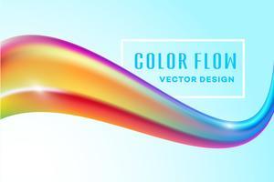 Poster moderno flusso colorato. Priorità bassa della maglia di colore di forma liquida dell'onda