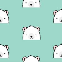 Simpatico modello di orso polare bianco