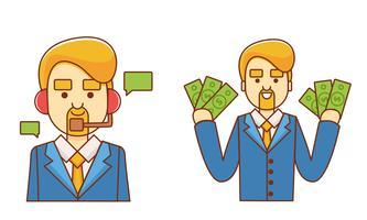 Set di imprenditore di carattere