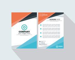 Brochure aziendale vettore