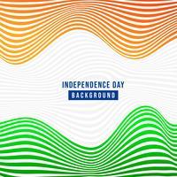 Simpatico abstract, banner o poster per il 15 agosto, giorno dell'Indipendenza dell'INDIA vettore