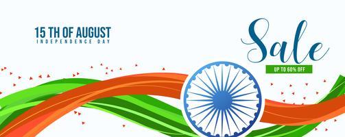 Illustrazione della festa dell'indipendenza nella celebrazione dell'India vettore