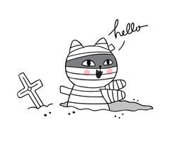 Halloween, mamma gatto vettore