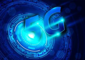 5G nuovo sfondo di connessione wifi internet wireless vettore