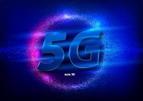 Connessione Internet wireless 5G vettore