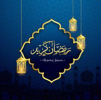 Ramadan Kareem design islamico vettore
