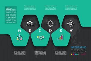 Infografica aziendale con opzioni da A a E. vettore
