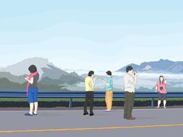 gruppo di viaggio sui social network