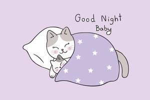 mamma e bambino gatto che dorme